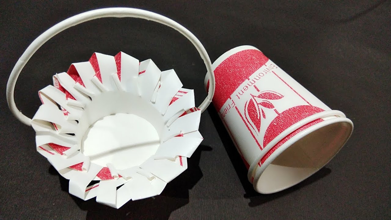 Amazing paper cup crafts paper cup basketbest out of waste amazing paper cup crafts paper cup basketbest out of waste diy art and craft ideas jeuxipadfo Image collections