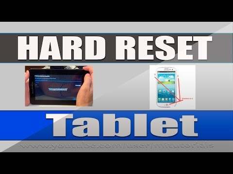 Como fazer hard reset no Tlet Android