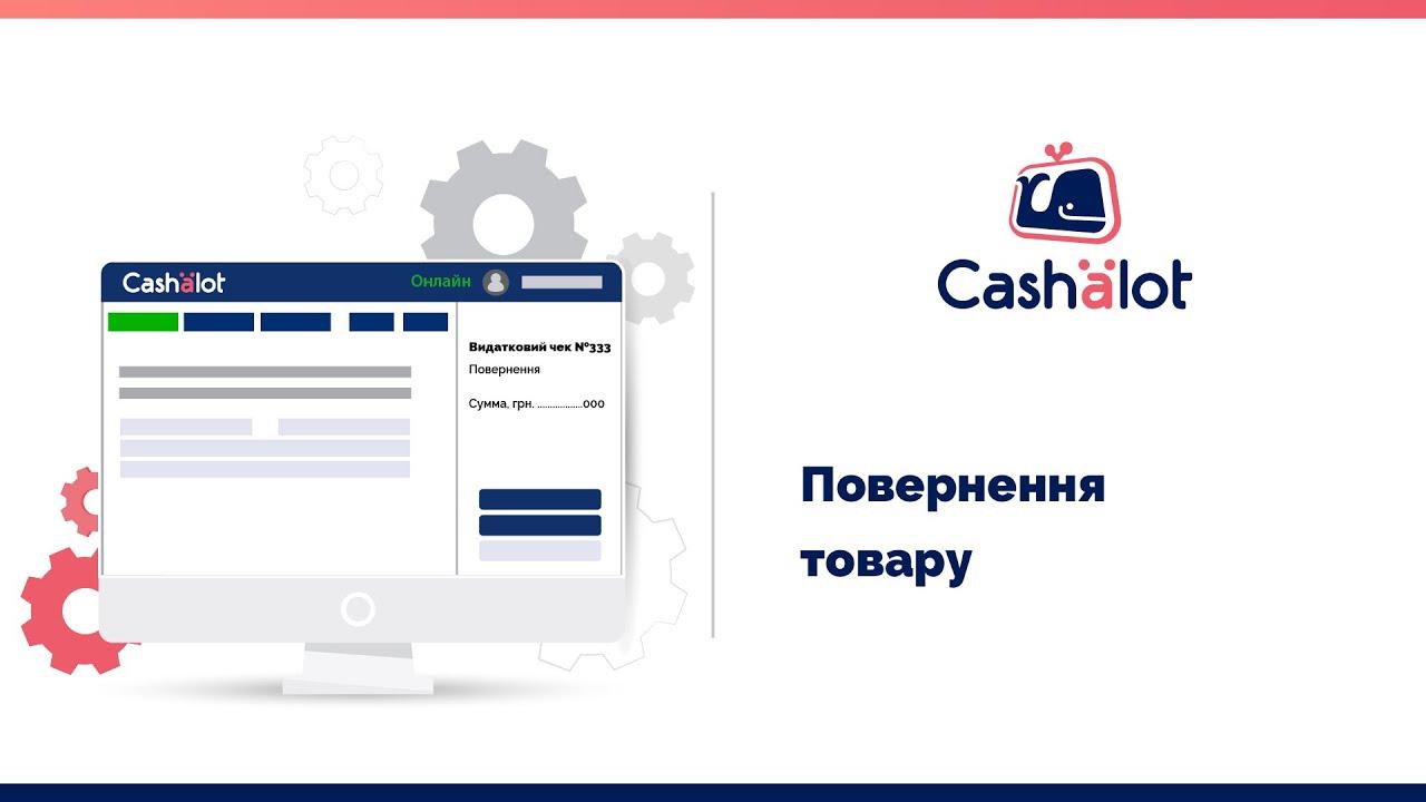 Програмний РРО Cashalot | Повернення коштів покупцеві за товар. Формування видаткового чека
