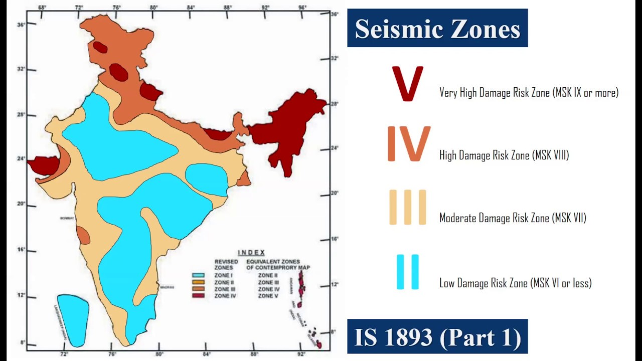 recent seismic map of india Seismic Zones Of India Youtube recent seismic map of india