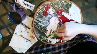 Lady Of The Forest-  Fairy Fantasy Art Acrylic Speed Painting Video