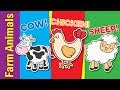 Learn Farm Animals for Kids | Video Flash Cards | Kindergarten, Preschool & ESL | Fun Kids English