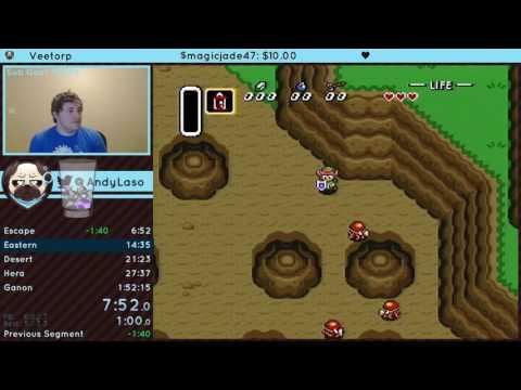 The Legend of Zelda: A Link to the Past Low% OHKO speedrun in 1:54:30 RTA