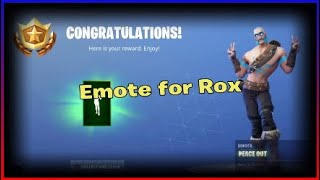 Unlocking the peace out emote in fortnite