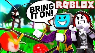 My Girlfriend Challenges The Stick Bug And King Beetle In Roblox Bee Swarm Simulator