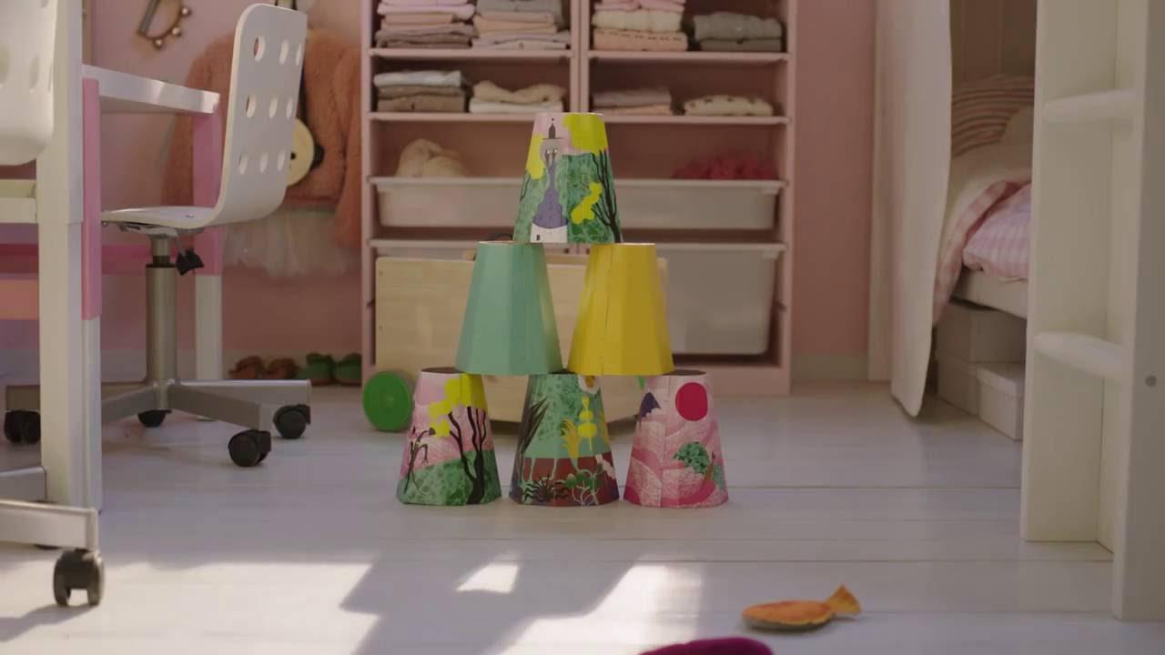 IKEA Quadratmeterchallenge: Kleines Kinderzimmer einrichten - YouTube