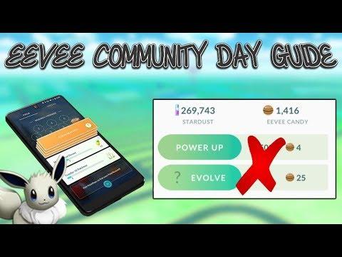 Eevee community day guide for pokemon go also youtube rh