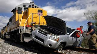 CAR AND TRAIN ACCIDENT