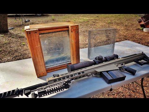Can DIY Bullet Proof Glass Stop a Barrett 50cal?!?