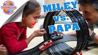 MILEY vs. PAPA - Tochter und Vater im Carrera Go!!! RACING FIEBER   Mileys Welt