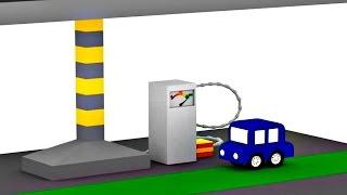 Lehrreicher Zeichentrickfilm - Die 4 kleinen Autos - Der Tanklaster