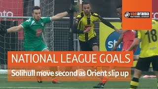 Solihull move second as Orient lose | National League Highlights: Matchday 30