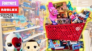 Buying ALL Fortnite & Roblox Toys at Target! Close Up of each! Stranger Things Merch Still In Stock?