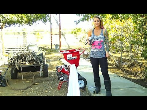 Functional test of Harbor Freight Predator 212cc 6.5 hp chipper shredder  HF 62323 The Crouch Ranch