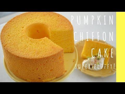 How To Make ★Japanese Pumpkin Chiffon Cake★~かぼちゃシフォンの作り方~(EP78)