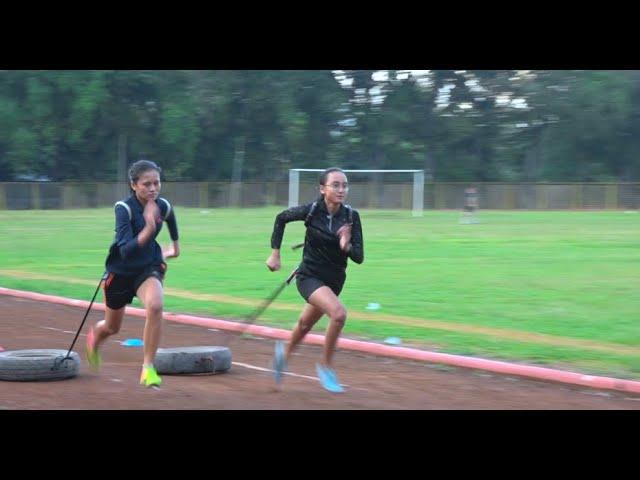 Latihan Keras Atlet Atletik Lari Tabalong - Sport Light