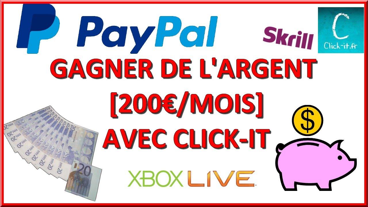 GAGNER DE L'ARGENT 200 €/mois avec CLICK-IT FACILE ! - YouTu