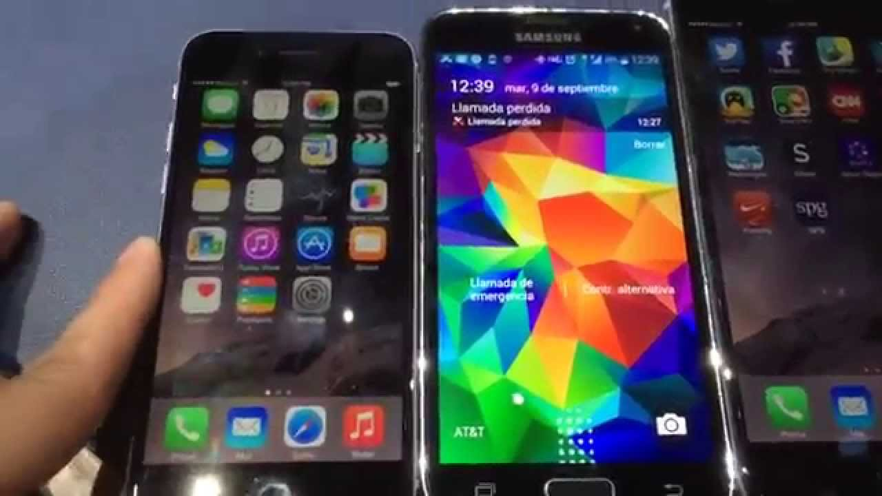 iphone 6 vs samsung galaxy s5 iphone 6 vs samsung galaxy s5 on demo 19340