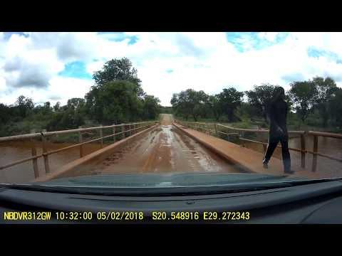 Driving around Filabusi in Matabeleland Zimbabwe