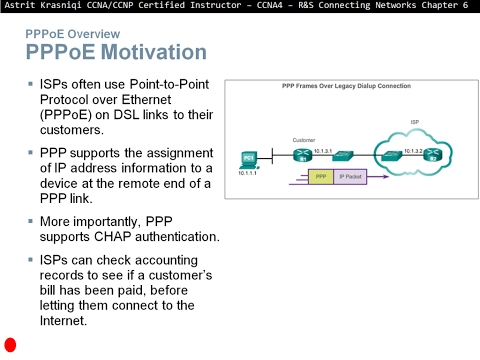 6.3  Configuring xDSL (CCNA 4: Chapter 6: Broadband Solutions)