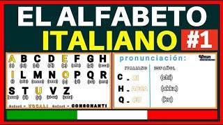 🇮🇹 ITALIANO LECCIÓN 1 Pronunciación en Italiano /Pronunciamo l'alfabeto ITALIANO 🇮🇹