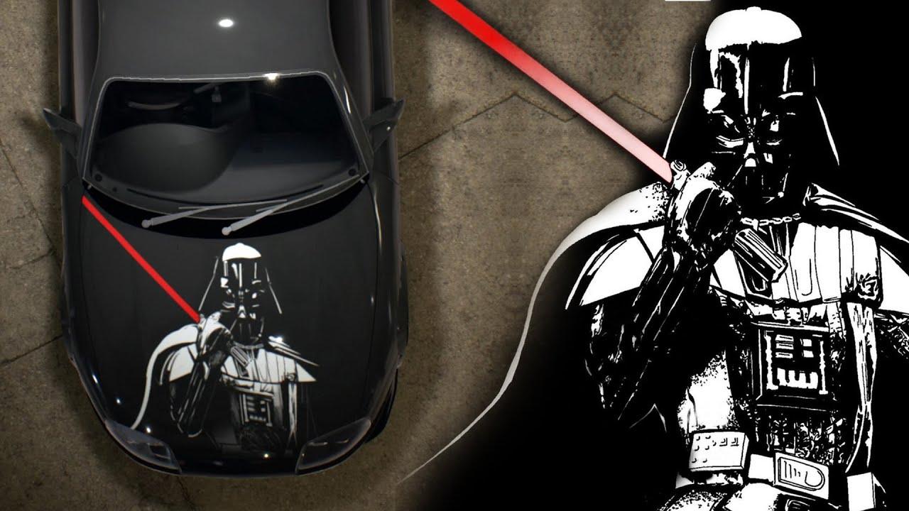 Auto Vinyl Wrap >> Need for Speed 2015 Speed painting Star Wars Darth Vader vinyl - YouTube