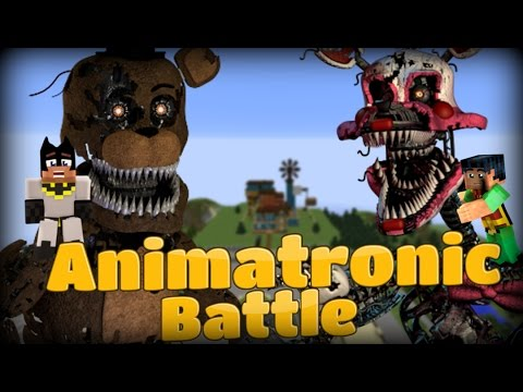 Minecraft Hello Neighbor: GIGA FNAF FREDDY VS MANGLE - Animatronic Fight (Minecraft Roleplay)