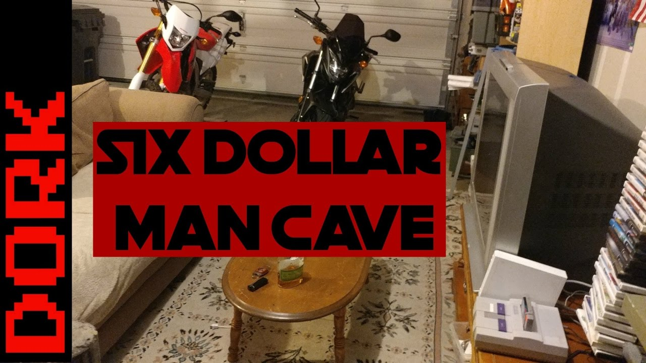 Garage man cave on a budget my 6 dollar man cave