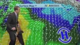 weatherman plays w DOG news blooper