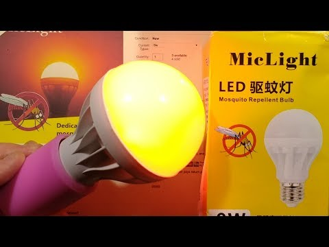 Anti-insect LED lamp  (non zapping) - YouTube