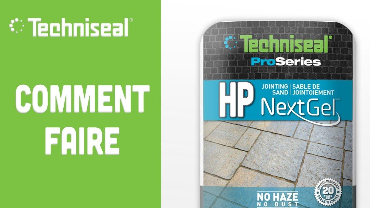 Comment Installer Le Sable Polymere Hp Nextgel Pour Joints De