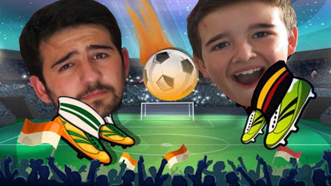 FUTBOL PARA CABEZONES WTF !! CON MI PRIMO- Online Head Ball - ElChurches - YouTube