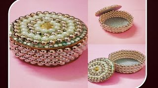 DIY :: How to make Beautiful Jewellry box out of old CD/DVD!!
