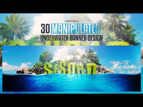 Photoshop/C4D Tutorial: Creating a 3D Manipulated Ocean Line Scene