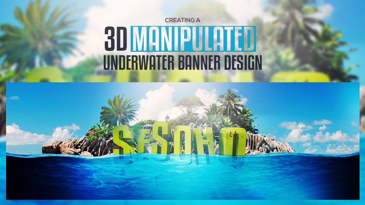 Cinema 4D and Photoshop - Creating a 3D Manipulated Underwater Scene