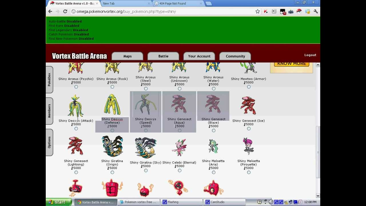 Pokemon vortex v3 game login