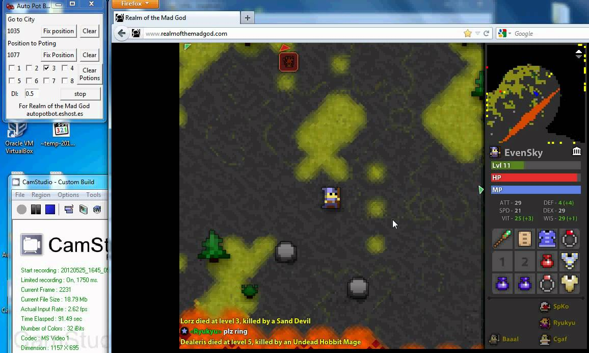 Auto Poting Bot v1 for Realm of the Mad God by EvenSky