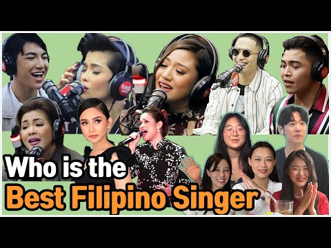Koreans react to the Best Filipino Singer who is the best Filipino singer