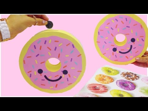 How To Make A Piggy Bankmoney Boxdonut Diy Doughnut Piggy Bank