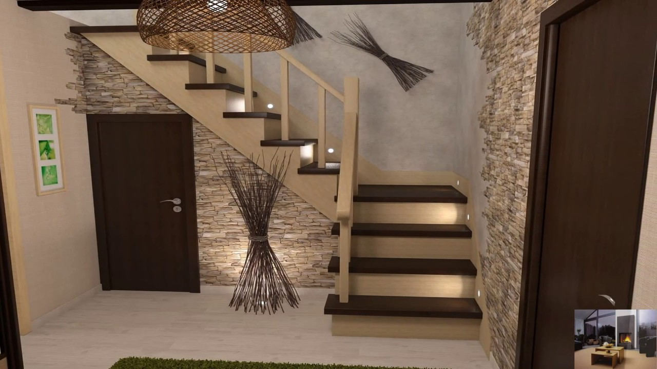 Дизайн Гостиной В Частном Доме С Лестницей Фото