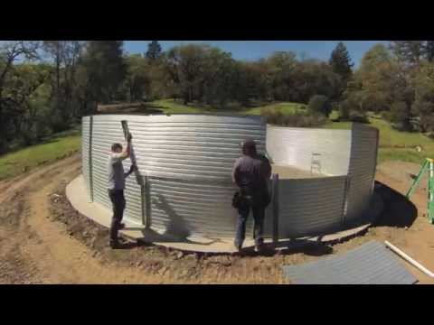 Installation Of 50 000 Gallon Pioneer 174 Water Tank Youtube