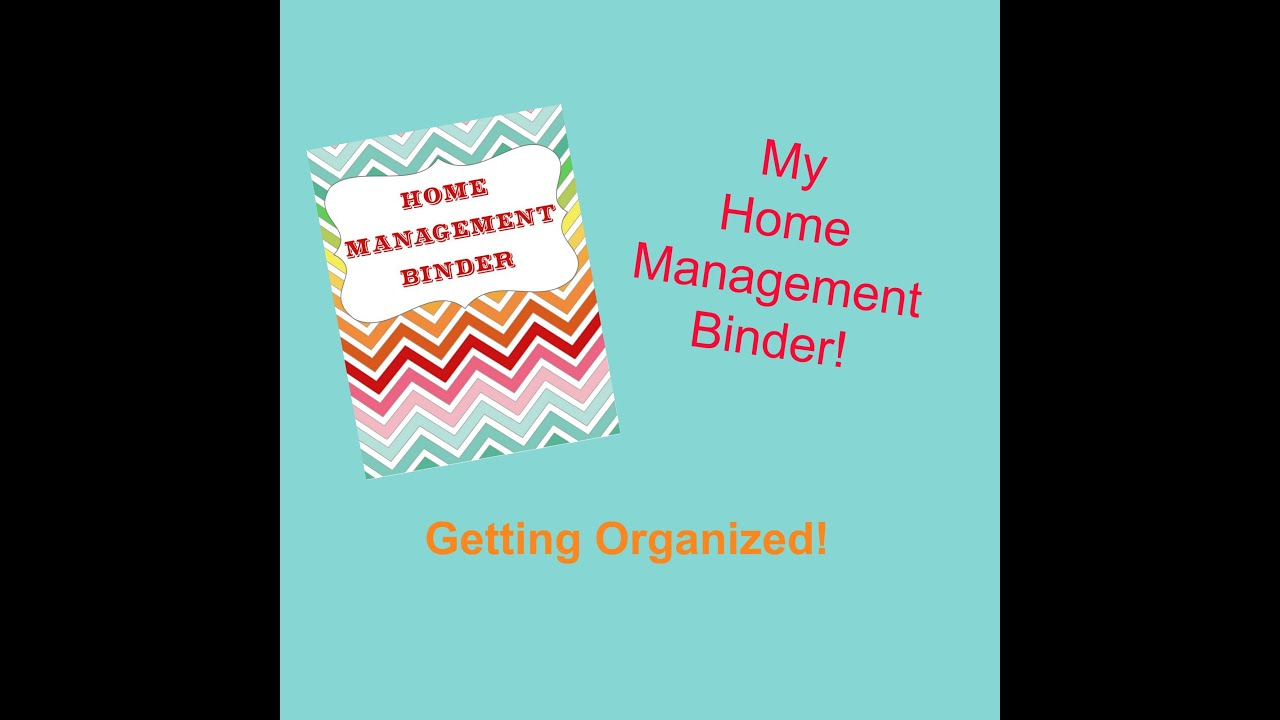 Home Management Binder Organizing My Life
