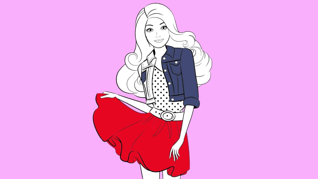 Barbie Gravida Desenho