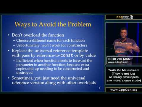 "CppCon 2015: Leor Zolman ""Traits Go Mainstream..."""
