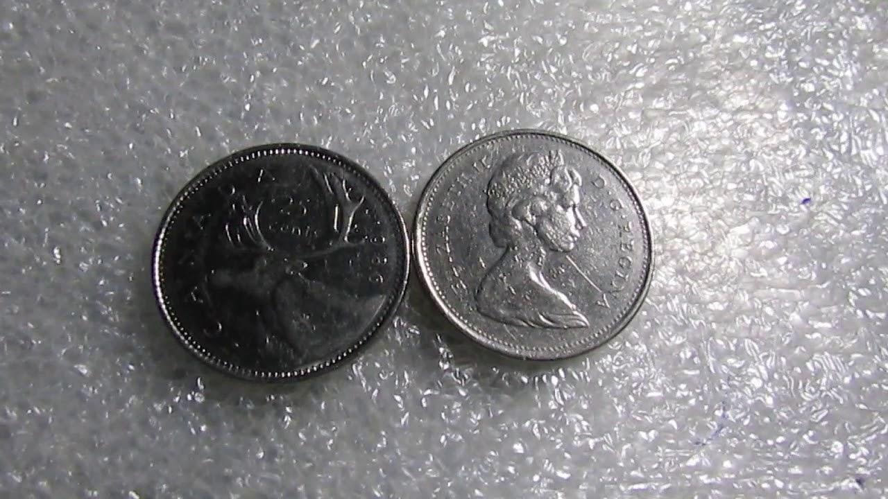 Moeda 25 Cents de Dollar Canadense 1989