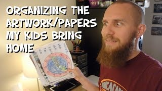 Organizing The Artwork/Papers My Kids Bring Home - Mr. Riedl
