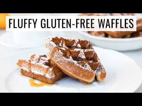 FLUFFIEST GLUTEN-FREE WAFFLES EVER! | whole grain + high protein