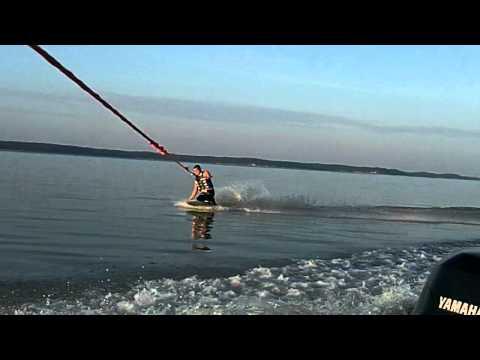 Tommy Grenada lake kneeboarding