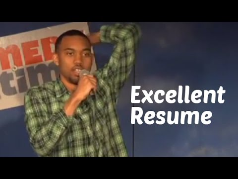 excellent resume stand up comedy