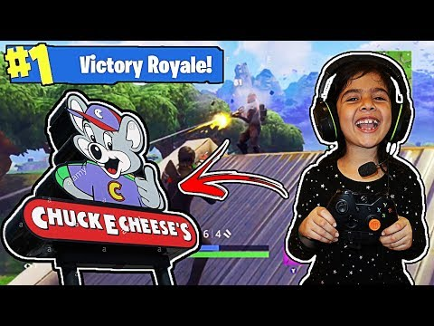 5 YEAR OLD LITTLE SISTER GOT VICTORY ROYALE IN THE ARCADE!! (5 YEAR OLD SISTER PLAYS LIKE NINJA!)